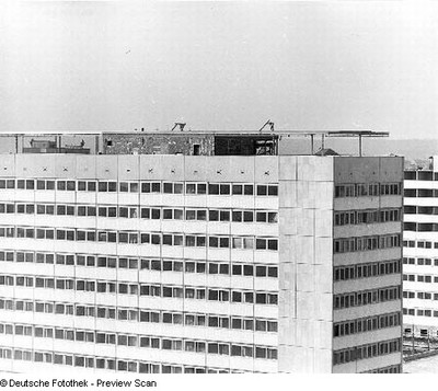 Blick auf das Interhotel Bastei im Bau