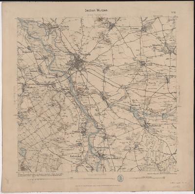 Omnia Topographische Karte Aquidistantenkarte Sachsen