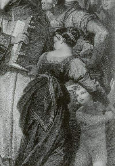 Die Ehebrecherin vor Christus (Ausschnitt)