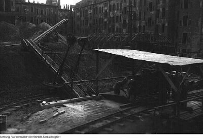 Dresden. Enttrümmerungsarbeiten in Johannstadt und Altstadt (Bereich Prager Straße), 1946