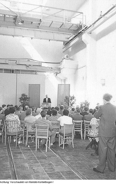 Dresden, Rossendorf. Atom-Reaktor Rossendorf, Januar 1958