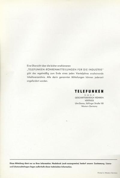 OMNIA - Prospekt: AEG-Telefunken