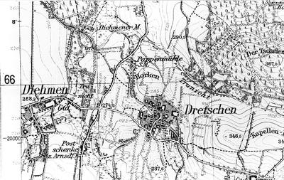 Doberschau-Gaußig-Diehmen. Meßtischblatt, Sekt. Bautzen, Nr. 4852