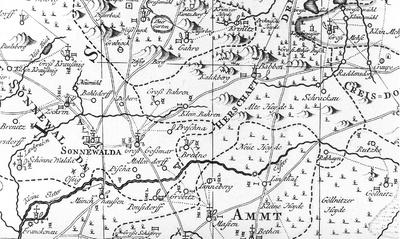 Lausitz Karte.Omnia Karte Des Marggraffenthums Nieder Lausitz Von Petrus