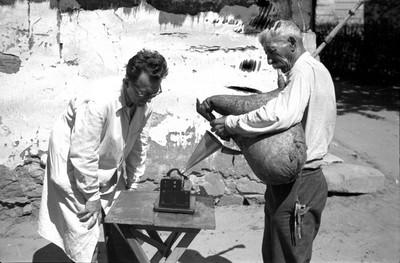 Filmfelvétel Lapáti Antal dudás játékáról