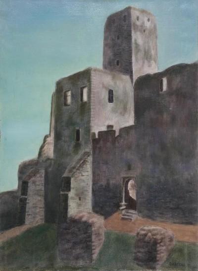 Trecsén - vár látképe