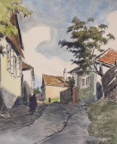 Lépcső utcából balrakanyarodó utca