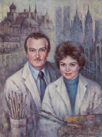 A művésznő és férje