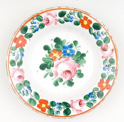 Festett tányér