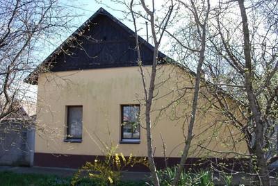 Szecessziós oromzatú parasztház