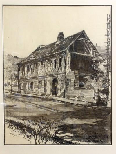 Semmelweis szülőháza lebombázott állapotban