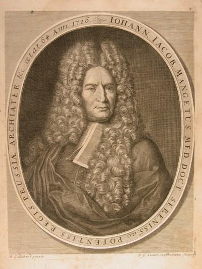 Manget [Mangetus], Jean Jacques (1652-1742) portréja