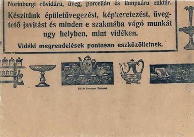 Zalaegerszegi kereskedő reklámjának töredéke