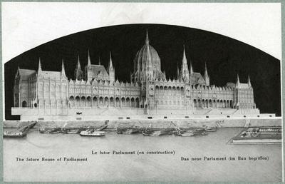 A Parlament épületének makettje
