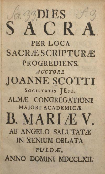 Dies Sacra Per Loca Sacræ Scripturæ Progrediens