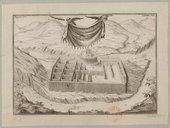 Vista y perspectiva de la Fortaleza y Palacio que los Reyes Ingas tenian en el Territorio de Canar cuias paredes se conservan / Fuente F.