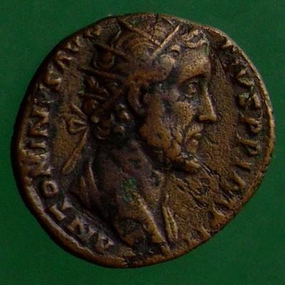 Antoninus I. Pius (138-161); Rom; 155 - 156; Dupondius; RIC 953