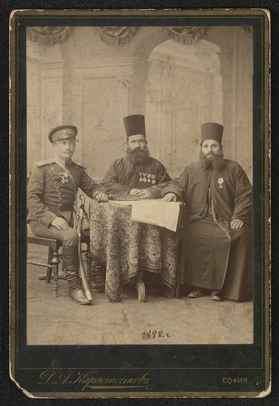 The priests Petar Draganov and Petko Frangov, and Prodan Tishkov