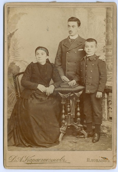 Studio portrait of the Hadzhikalchov family