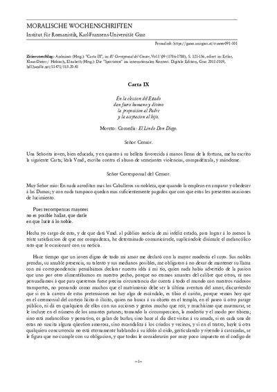 Carta IX