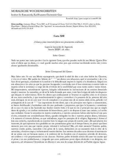 Carta XIII