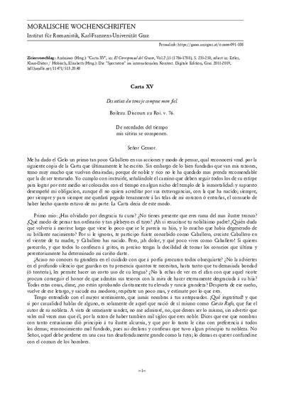 Carta XV