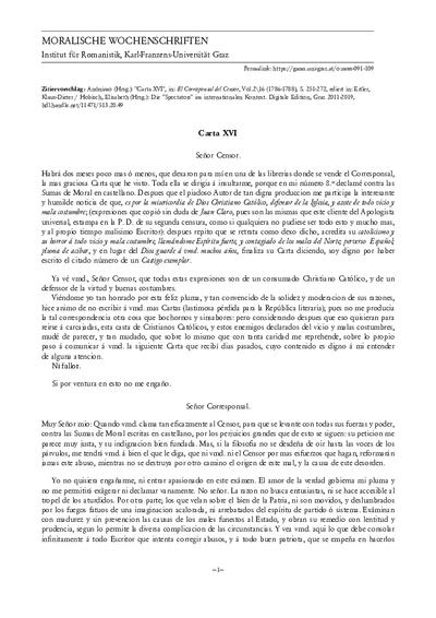 Carta XVI