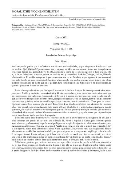 Carta XVII