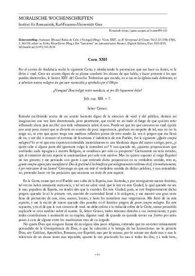 Carta XXII