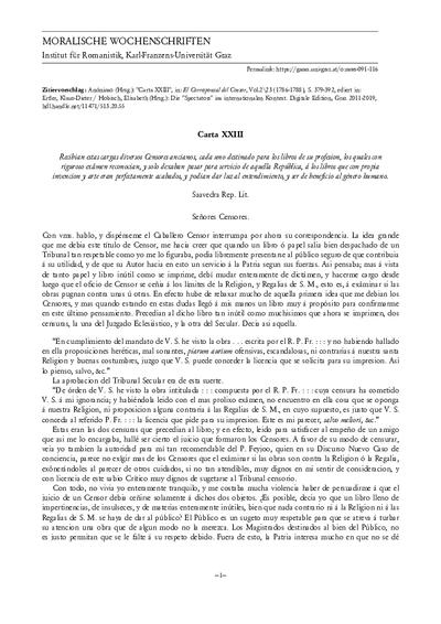 Carta XXIII