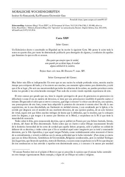 Carta XXIV