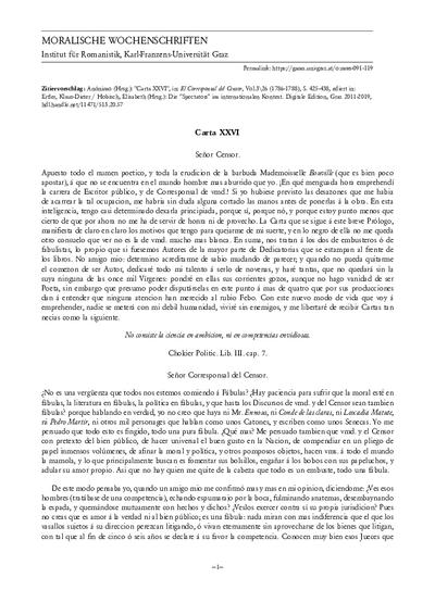 Carta XXVI