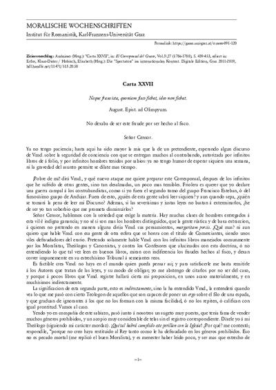 Carta XXVII