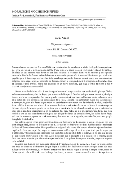 Carta XXVIII