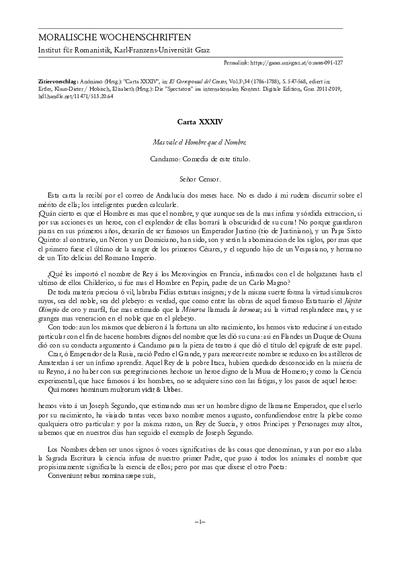 Carta XXXIV