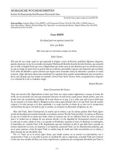 Carta XXXVI