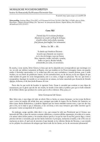 Carta XLI