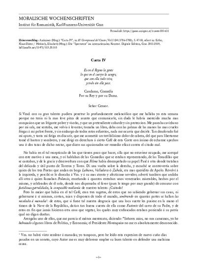 Carta IV