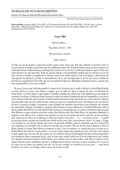 Carta VIII