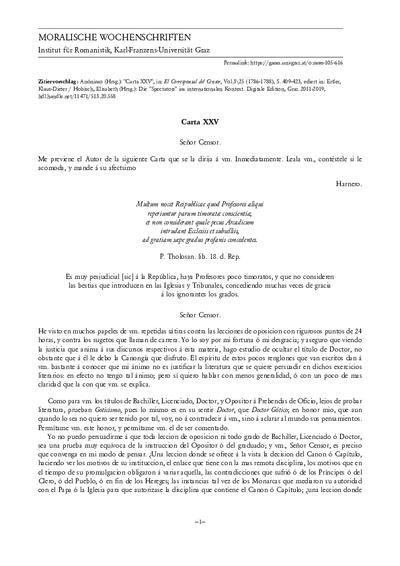 Carta XXV