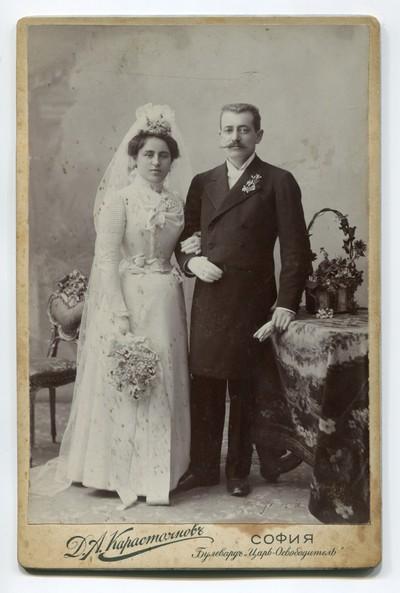 Studio wedding portrait