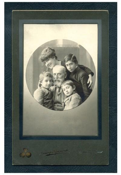 Studio portrait of the photographer family Karastoyanov