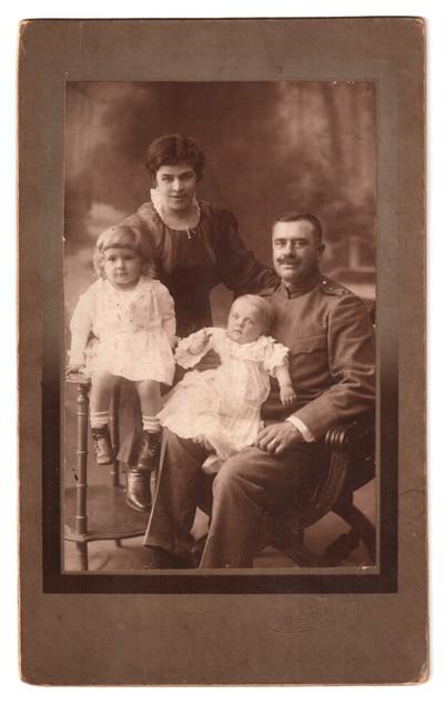 Studio portrait of the Popov family