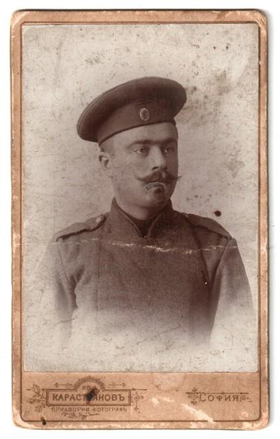 Studio portrait of Popov as a soldier