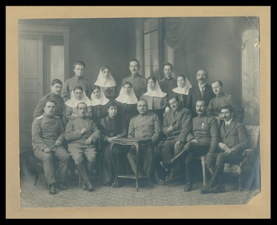 Medical staff and prisoners of war at the Alexandrovska Hospital