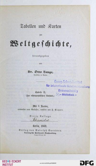Zur ethnographischen Vorstufe, Tab. 2