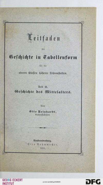 Geschichte des Mittelalters : für die oberen Klassen höherer Lehranstalten, Teil 2