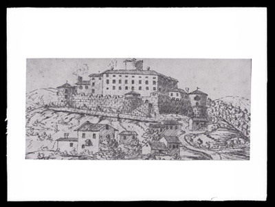 Branik - Grad Rihemberk (grafika, zračni posnetek), fotografija