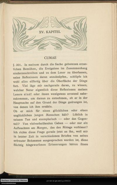 XV. Kapitel - Cumae