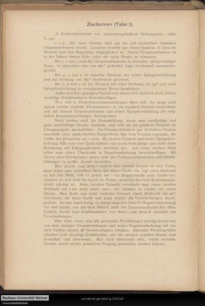 Zierformen (Tafel I.).